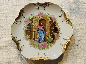 "Jesus Knocking At Hearts Door Decorative 8"" Wall Plate Vintage"
