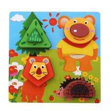 Wooden Puzzles Toys Jigsaw Baby Building Blocks Hobbies Kids Learning Toys HY