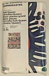 New IKEA SOMMARASTER Full/Queen Duvet cover and 2 pillowcases, Multicolor