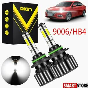 4-Sided Headlight 9006 9012 HB4 LED Bulb 2000W 300000LM Low Beam or Fog Light US