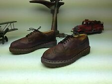 VINTAGE DR DOC MARTENS BROWN LEATHER WING TIP MADE IN ENGLAND HIPSTER SHOES 8 M