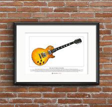 Peter Green's 1959 Gibson Les Paul Standard Ltd Edition Fine Art Print A3 size