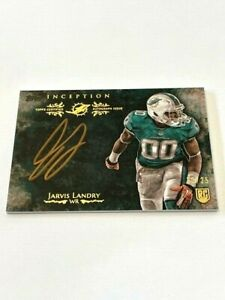 Jarvis Landry Auto /25 🔥 2014 Topps Inception Football RC Gold Ink Signings