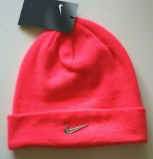 NIKE METAL FUTURE SWOOSH  STRETCH KNITTED BEANIE HAT - PINK CK6484-617 - YOUTH