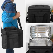 Large Aluminum Foil Insulation Thermal Cooler Travel Picnic Bag Pouch Lunch Box