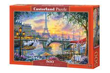 Puzzle 500 pieces L'heure du thé a Paris 47x33cm de marque Castorland neuf