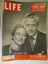 Life Magazine May 22 1950 A King's Story Duke And Duchess Windsor  vintage ads