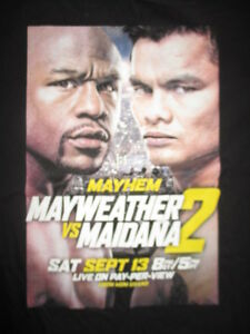 "2014 FLOYD MAYWEATHER vs MARCOS MAIDANA Sept 13, 2014 ""MAYHEM 2"" (XL) T-Shirt"