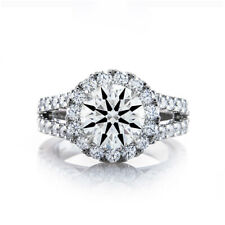 Engagement Rings Size 7 8 9 For Sale Solid 14K White Gold 1.50 Ct Diamond Women