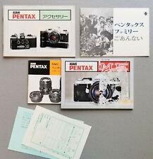 Vintage Asahi Pentax ME MX K2 KM KX Camera, Lens, Accessories Instruction Books