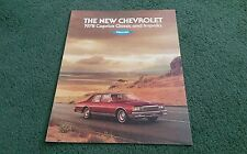 July 1977 / 1978 Model CHEVROLET CAPRICE CLASSIC & IMPALA - USA COLOUR BROCHURE