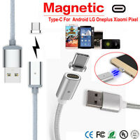 Magnetic USB Charger Cord Sync Data Cable Type-C Micro USB Cable For Android Lot