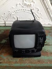 Mini Personal Television Black and White With AM/FM Radio