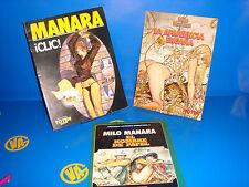 Comic 3 tomos MILO MANARA Underground descatalogados