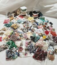 Beads, findings Lot,jewelry Vintage , glass,  plastic, wood,  10 pounds! Crafts