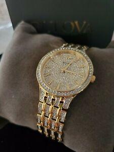 Bulova 98L235 Phantom 32MM Women's Stainless Steel goldtone crystal watch