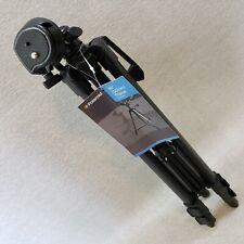 "Polaroid 50"" (127cm) Black Tripod PLTRI50 Black 3 Section Legs Rubber Feet Case"