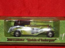 Matchbox Models of Yesteryear Y-16 1928 Mercedes SS Coupe Green - Boxed