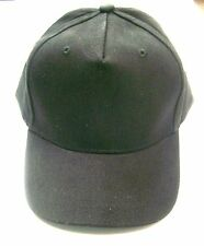Cap Baseball Hat Black Adjustable Velcro Closure Twill Youth Size 4-7 Lot of 25