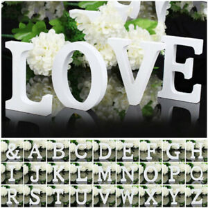 A-Z Large Wooden Letters Alphabet Wall Hanging Wedding Party Home Shop Decor Hot