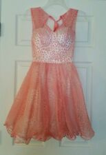 NWT Modcloth Cake a Chance Dress 4 Peach Pink & White Formal Flare Party Chi Chi
