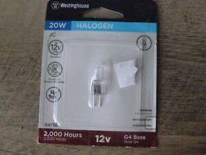Westinghouse 04736 20W 12v Clear Halogen Bulb 2000 hours - Free Shipping!!