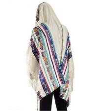 """Tallit Talit Prayer Shawl 100% Wool Model Jerusalem Size 15"""" L X 65"""" W Y-16"""