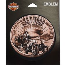 Deadwood Harley-Davidson® Small Bronze Coin Sew On Emblem Path