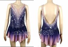 Figure Skating Dress Women's / Girls' Ice Skating Dress Spandex dying blue pink