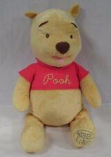 "2005 Disney 80th Anniversary Winnie the Pooh 24"" Soft Plump Plush Stuffed Toy"