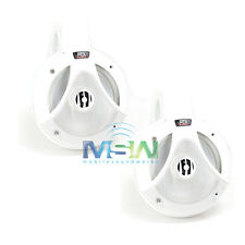 "NEW MTX TM652WB 6-1/2"" 2-Way THUNDER MARINE WAKEBOARD TOWER SPEAKER SYSTEM WHITE"