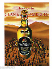 PUBLICITE ADVERTISING 055  1983  CLAN CAMPBELL  l'héritage   scotch whisky