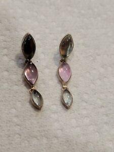 Sterling Silver Fluorite Earrings
