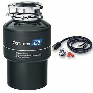 InSinkErator CONTRACTOR 333 WC Contractor Series 3/4 HP Garbage Disposal with St