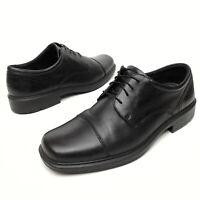 ✅💟✅@ Ecco Men's Black Leather Cap Toe Lace Up Oxford Dress Shoes Sz 13 Eu47 EUC