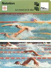 FICHE CARD: Crawl Nage libre Freestyle Nage sur le Dos Backstroke SWIMMING 1970s