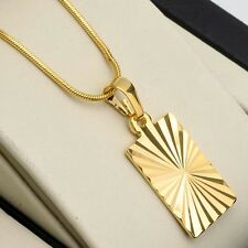 "Men's/Women's Pendant Necklace 18k Yellow Gold Filled 18"" Link Fashion Jewelry"