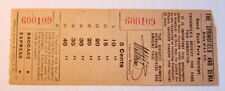 Vintage The Springfield And Xenia Railway Co. Streetcar & Trolley Transfer