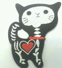 X-ray Skeleton Cat embroidered patch