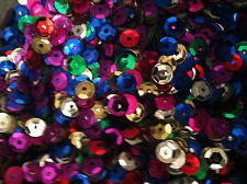 30g Sequins 7mm Beautiful colours. trimmings, sewing Approx 3000 Free postage