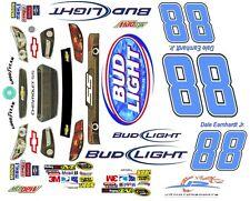 #88 Dale Earnhardt jr. Bud Light 2013 1/64th HO Scale Slot Car Waterslide Decals