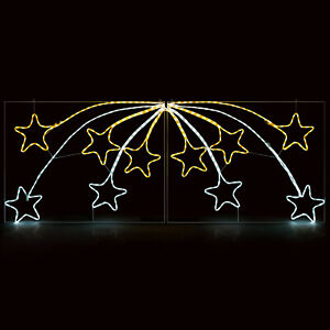 Shooting Star Christmas Rope Light Silhouette Flashing Outdoor Decoration 220cm