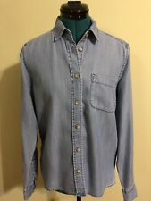 AMERICAN EAGLE OUTFITTERS Soft Blue Denim Shirt w Long-sleeves Size S/P