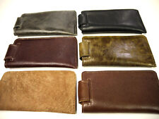 Leather Eyeglasses cases 6 colors High Quality