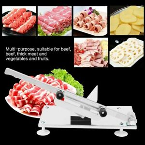 Stainless Frozen Meat Slicer Beef Mutton Sheet Roll Cleavers Cutter Machine Home
