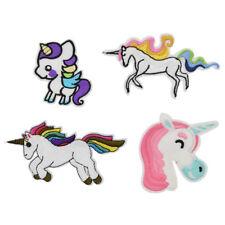 Rainbow Unicorn Patches Iron On Stripe Application Applique Sticker DIY Sewing