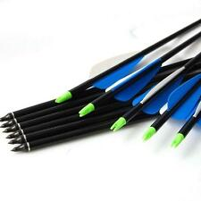 "12X32"" Archery Fiberglass Arrows Shafts Hunting Target For Recurve Compound Bow"