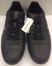 Lacoste Giron NAL Black Leather Sneakers Men's 13 US NIB 7-28SPM006502HM