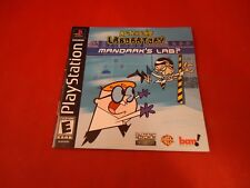 Dexter's Laboratory Mandark's Lab? Playstation 1 PS1 Instruction Manual Booklet