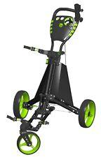 Easy Drive Golf Push Cart - Spin It Golf - Blk/Grn